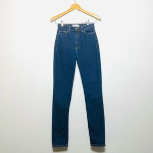 American Apparel Jeans Skinny High Waisted Size 28